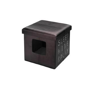 Cube Ottoman Brun 38x38x38