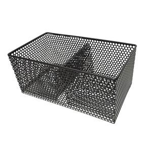 Foyer à pellet noir en acier 40 x 20 x 16,5 cm