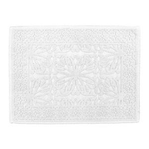 Tapis de bain Hammam Blanc en coton 60x80 cm 296858