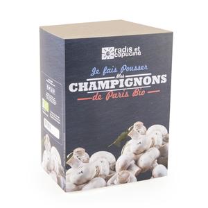 Kit de culture pour champignons blancs de paris bio 25x20x15 cm 296937