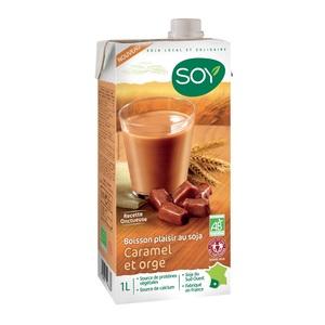Boisson soja orge caramel bio. Le tetra pack de 1L SOY