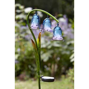 Lampe solaire Jacinthe bleue 297743