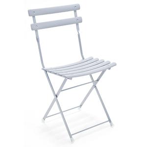 Lot de 2 chaises pliantes Paradisio grises 298003
