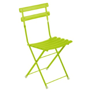 Lot de 2 chaises pliantes Paradisio vert anis 298005