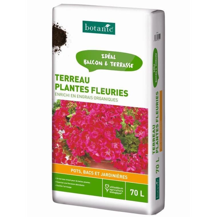 Terreau plantes fleuries en bacs 70L
