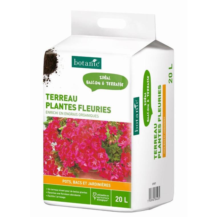 Terreau plantes fleuries en bacs 20L