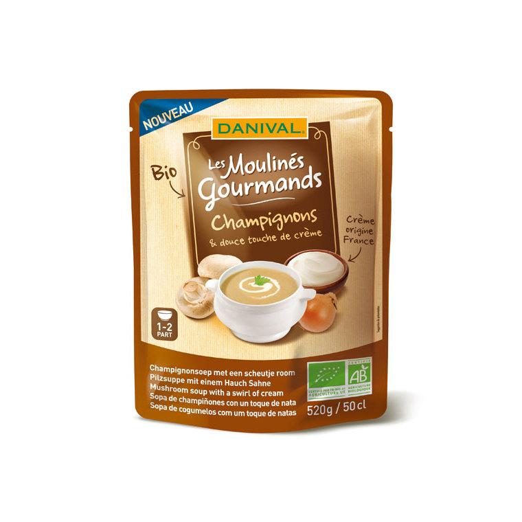 Soupe champignons touche de crème DANIVAL