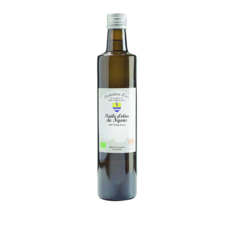 Huile d'olive bio de Nyons AOP vierge extra Histoire d'ici 500 ml
