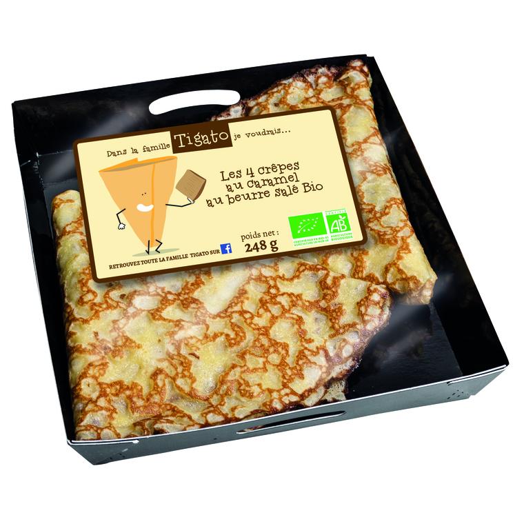 Crêpes caramel beurre salé.4 x 248 g TIGATO
