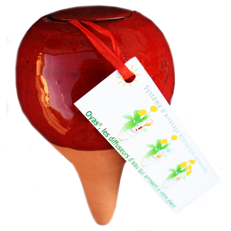 OYAS à planter émaillée rouge