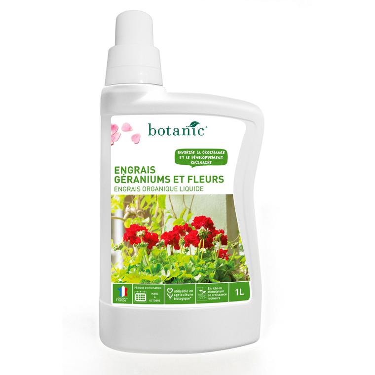 Engrais géraniums et fleurs liquide 1 l