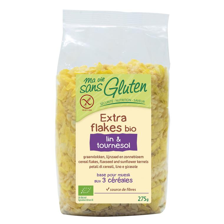 Extraflakes bio lin & tournesol 275 g MA VIE SANS GLUTEN
