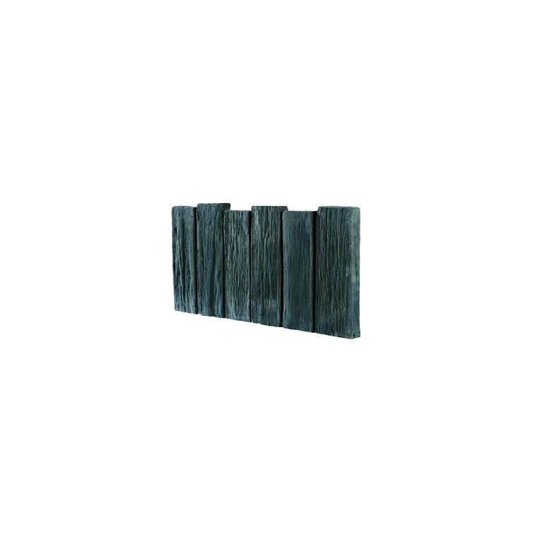 Bordurette aspect Schiste en béton coulé anthracite 50x25,5x2,8 cm