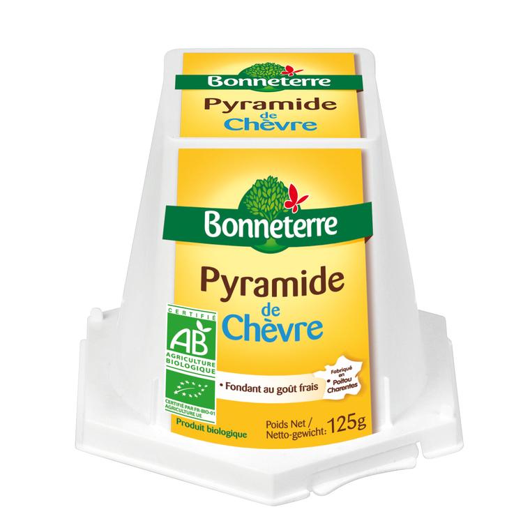 Pyramide de chèvre frais 125 g BONNETERRE