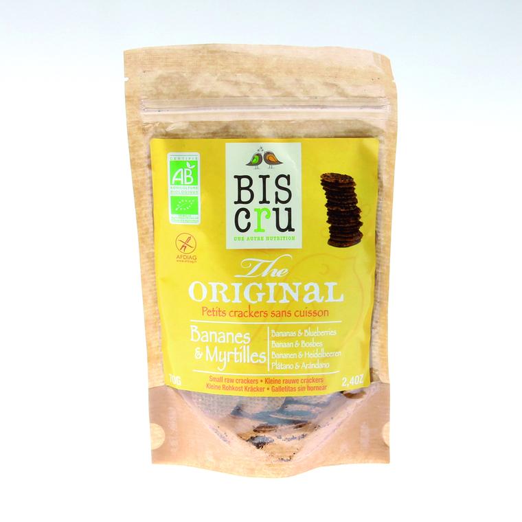 Crackers banane myrtille sans gluten 70 g BISCRU