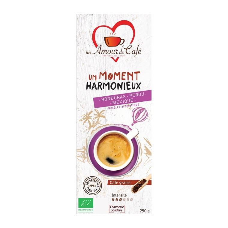 Café bio moment harmonieux 1/3 Honduras 1/3 Pérou 1/3 Mexiqu 250 g