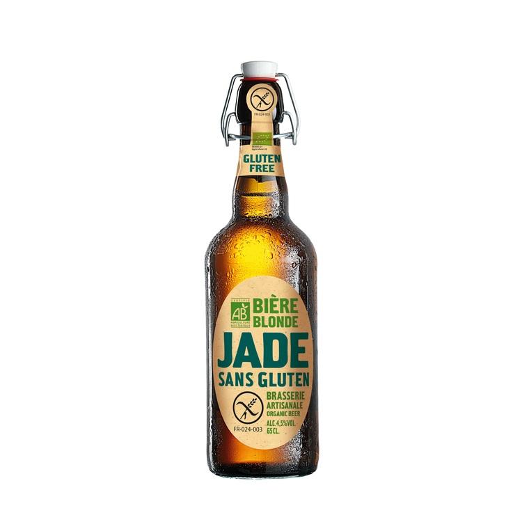 Bière Jade bio sans gluten. La bouteille de 65cl LA JADE