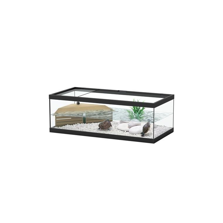 Bac pour tortues tortum 75 noir 75 x 36 x 25 cm 201495