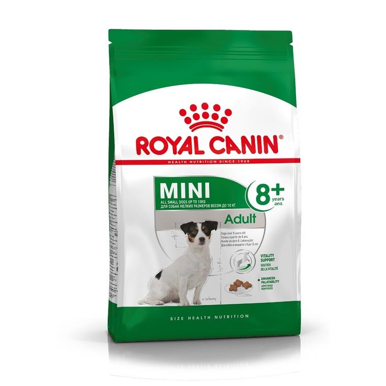 Mini Adult8+ croquettes pour petits chiens 8 à 12 ans sac 8 kg 204304