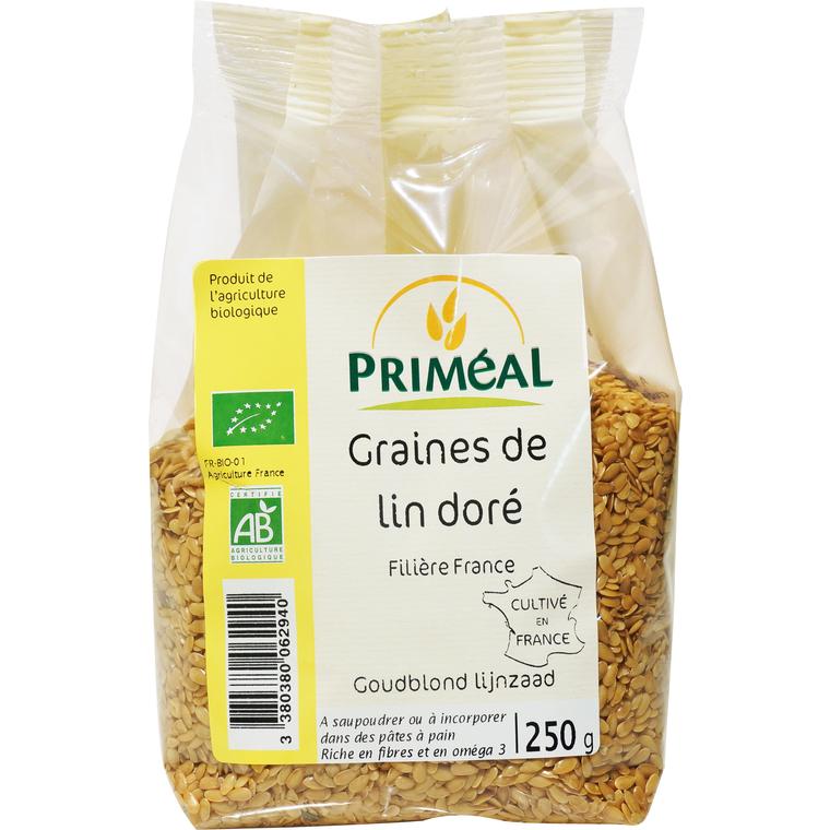 Graines de lin doré 250 g PRIMEAL 207474