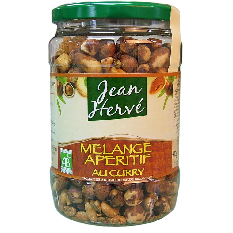 Mélange apéritif au Curry Bio - 400 gr 207495