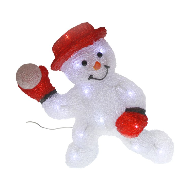 Bonhomme de neige acrylique 3D - 30 cm de hauteur 211331