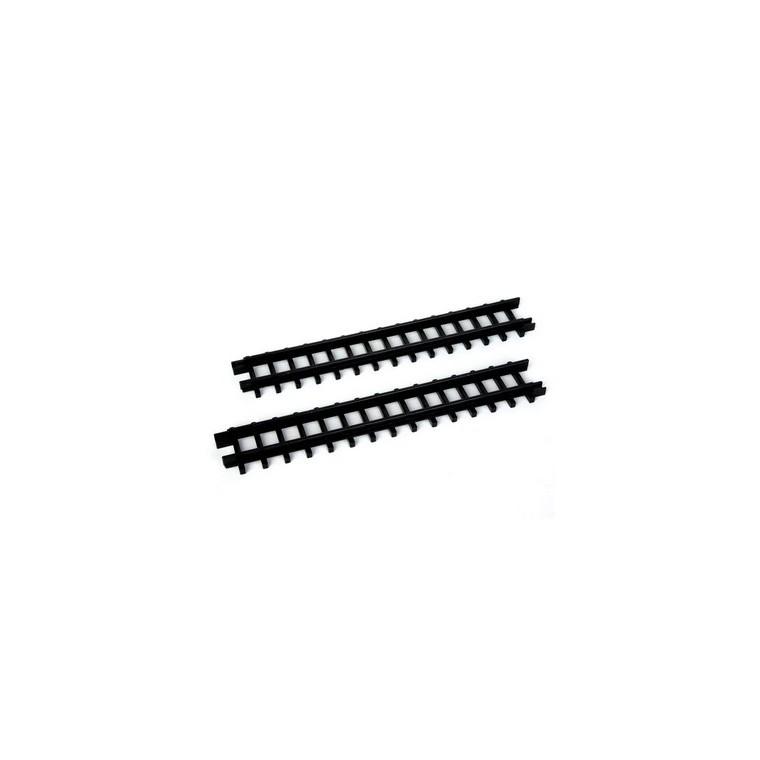 Rails droits extérieurs x 2 pour Circuit train 50x4,5x1,5 cm 211569