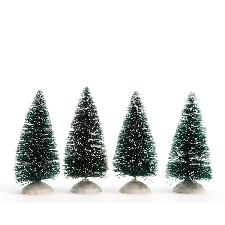 Quatre sapins verts de 10 cm 212167