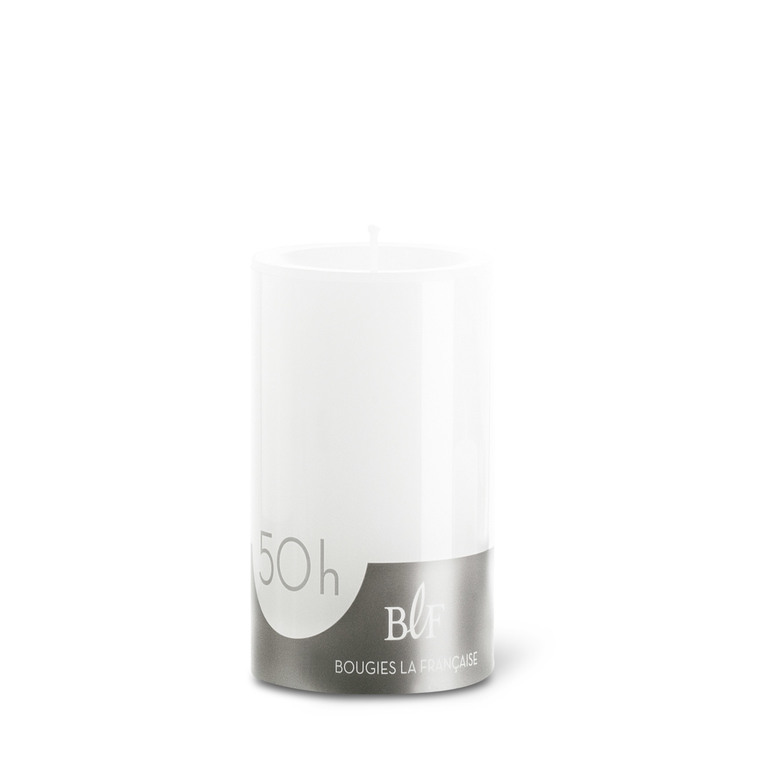 Bougie cylindrique 7x10 cm - Blanc 223378