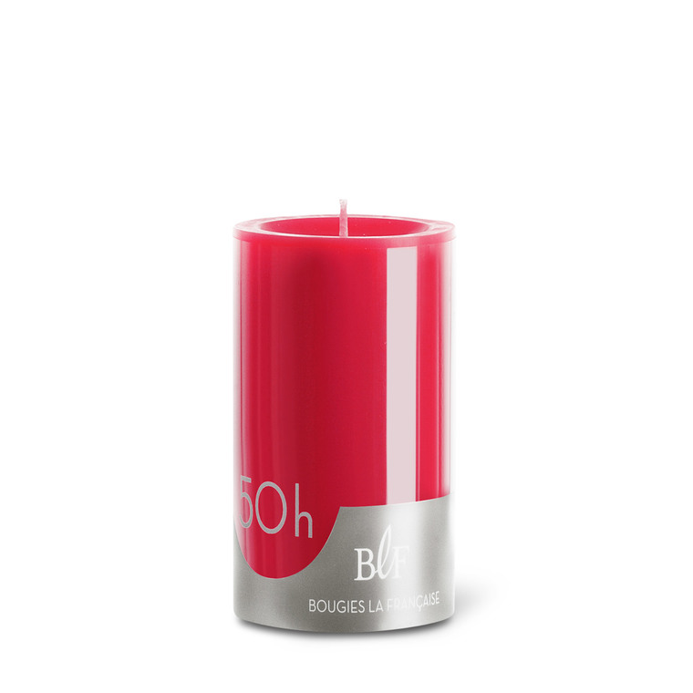 Bougie cylindrique 7x10 cm - Rouge 223388