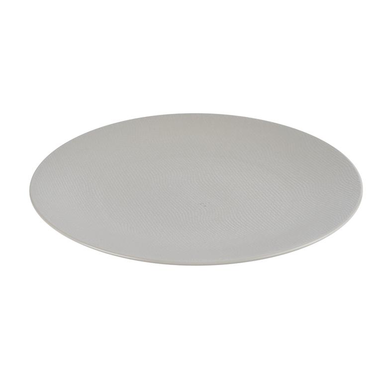 Assiette plate Vesuvio blanche en grès Ø 27 cm 223612