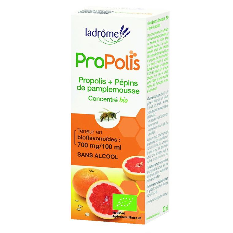 Concentré de propolis et de pépins de pamplemousse Bio 50 ml LA DRÔME PROVENÇALE 223800