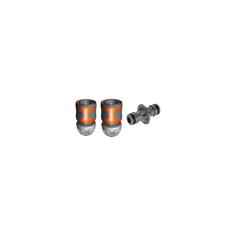 Nécessaire de connexion pour tuyau d'arrosage 15 mm Gardena 227727