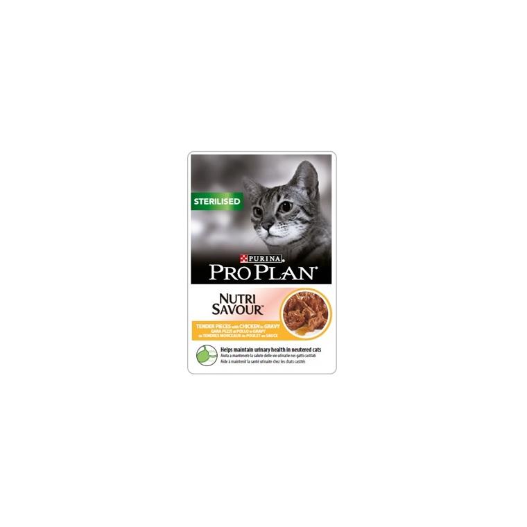 Sachet au poulet pour chat stérilisé Purina Pro Plan – 85 gr 229353