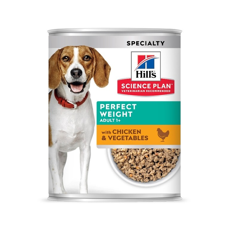 Pâtée canine adulte perfect weight au poulet 363 g 229849