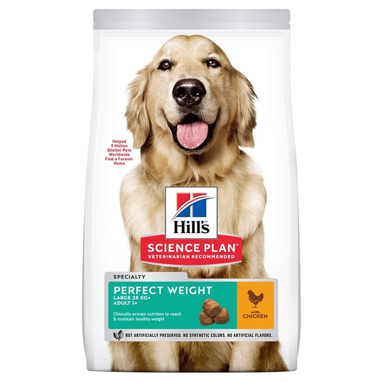 Croquettes canine adulte perfect weight 12 kg 229855