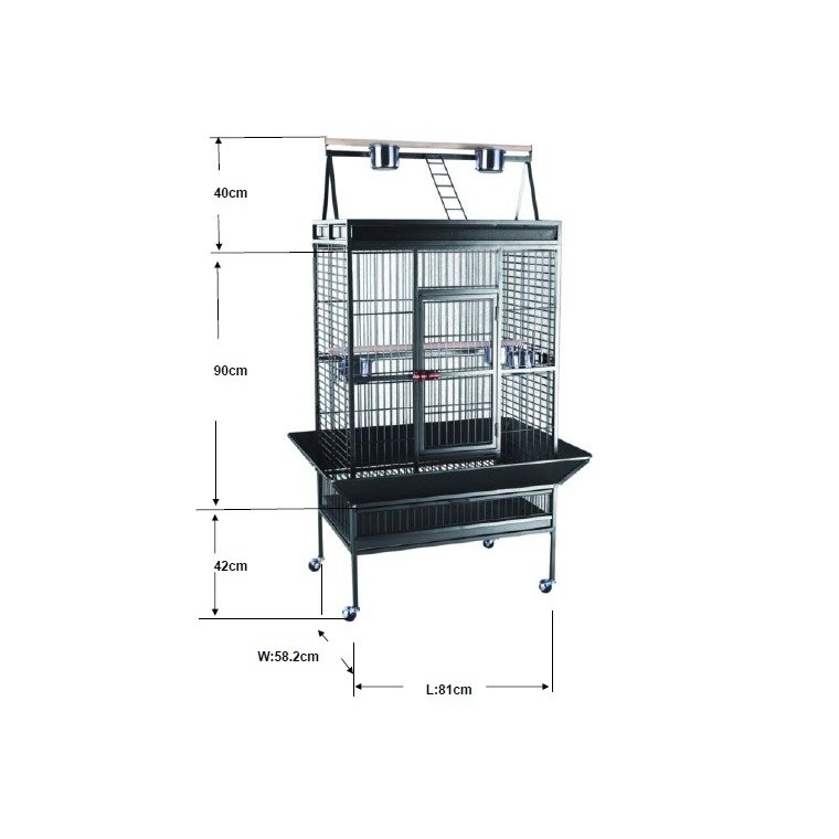 Cage perroquet XL Extra Large blanche 229985