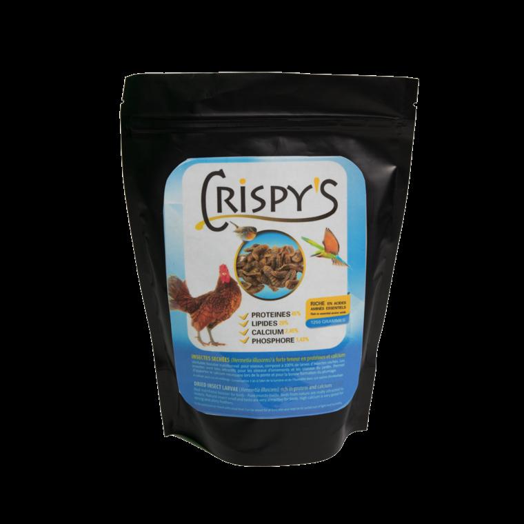 Crispy's 750 friandises insectes pour volailles en sachet noir de 750 g 230271