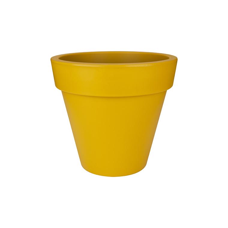 Pot pure round Elho de 78 L coloris jaune ocre Ø 60 x H 53,5 cm 231124
