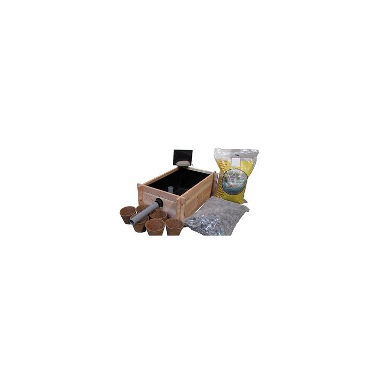 Kit bac lagunage bois 80 x 52 cm 232678