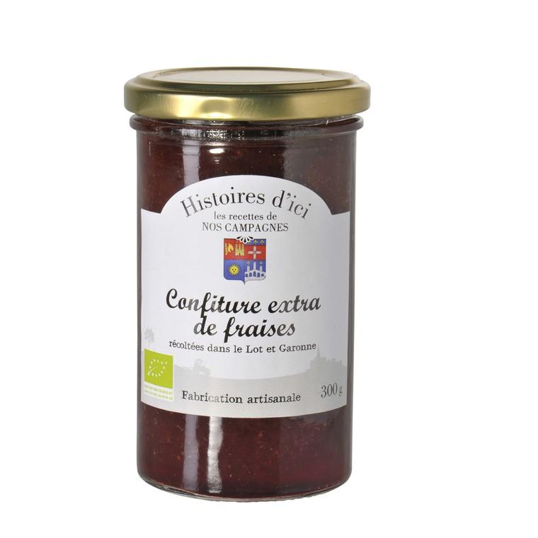 Confiture de fraises bio du Lot et Garonne Histoire d'ici 300 g 233286