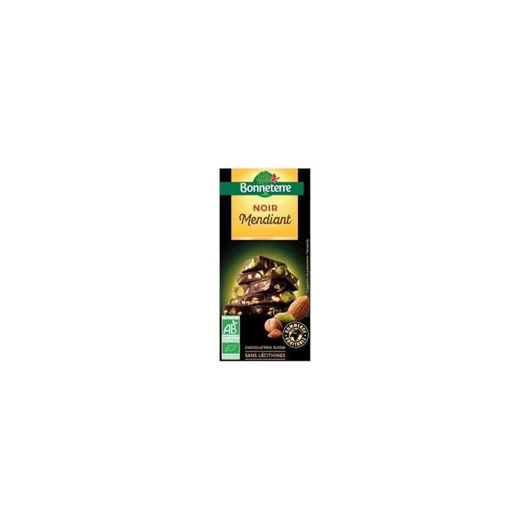 Chocolat noir mendiant 100 g BONNETERRE 234371
