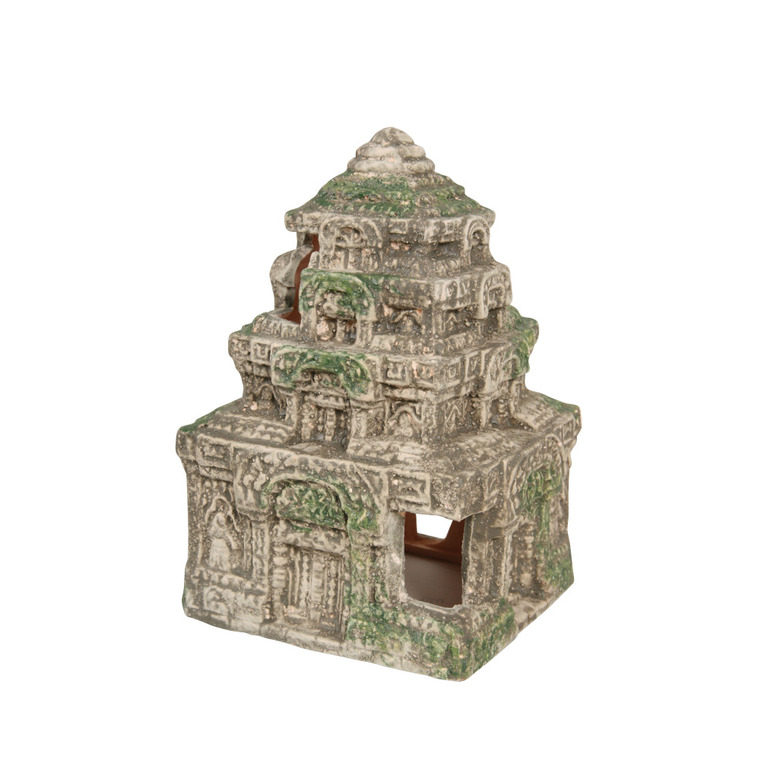 Décor avec temple L11,5xl11,5xh16,5 cm 235010