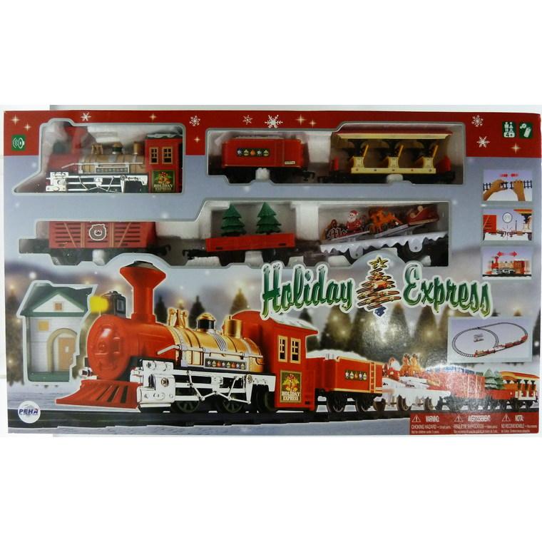 Train miniature Holiday Express de Noël 6cm, multicolore 242392