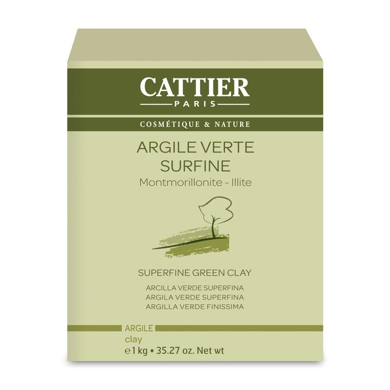 Argile verte surfine Cattier en pot de 1 kg 242574