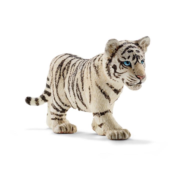 Figurine Bébé Tigre Blanc Série Animaux Sauvages 6,8x2,3x3,2 cm 245548