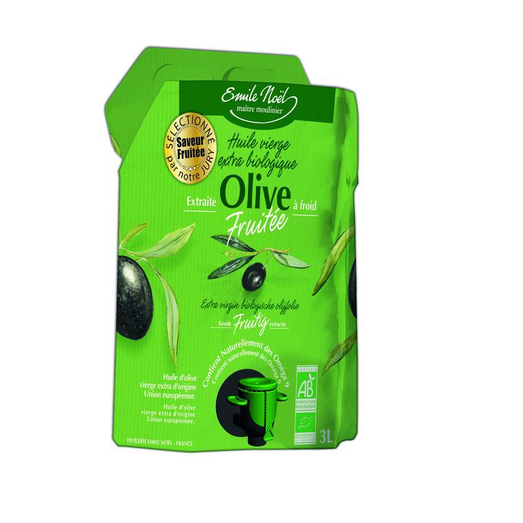 Huile olive vierge extra bio fruitée 3L EMILE NOEL 245881