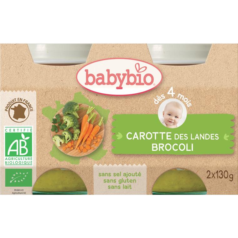 Petits pots de brocolis et carotte Babybio 2 x 130 g 248213
