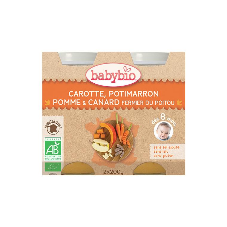Menu du jour légumes bios et canard fermier Babybio 2 x 200 g 248226