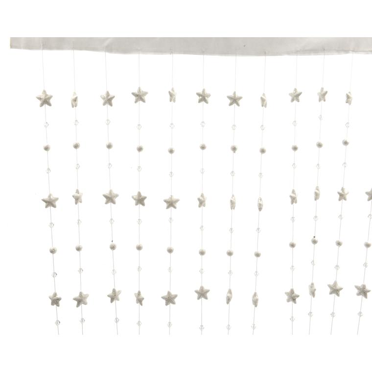 Rideau en tissu avec étoiles et boules de Noël - 90x200 cm 249982